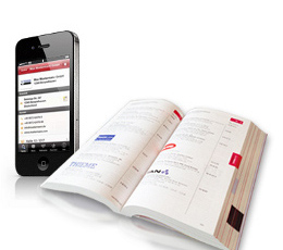 Catalog and smartphone