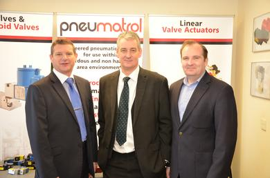 Picture shown (left to right): Andy Nash, Sales Director; Graham Jones MP; Jamie Dummer, Managing Director