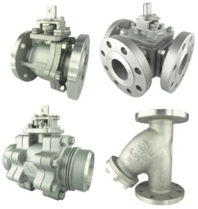 metal seat ball valve & strainer